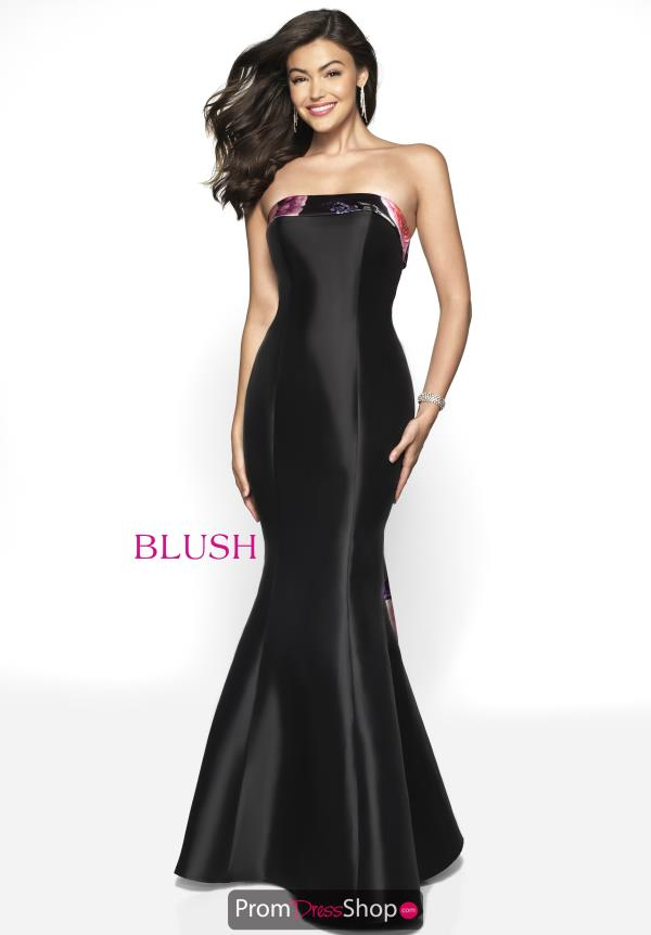 Blush Fitted Long Dress 11750