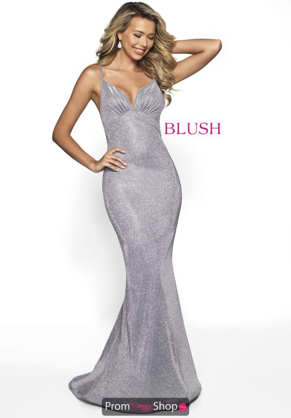 Blush Long Fitted Dress 11776