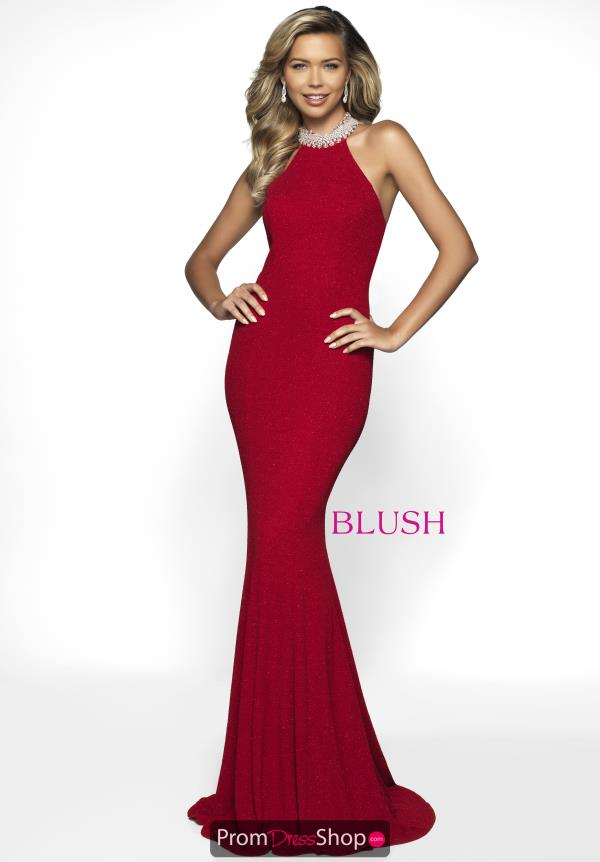 Blush Long Fitted Dress C2014