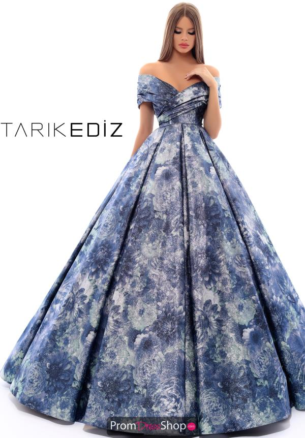 Tarik Ediz Off the Shoulder Dress 93674