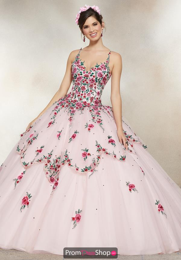Vizcaya Quinceanera Beaded Ball Gown 34007