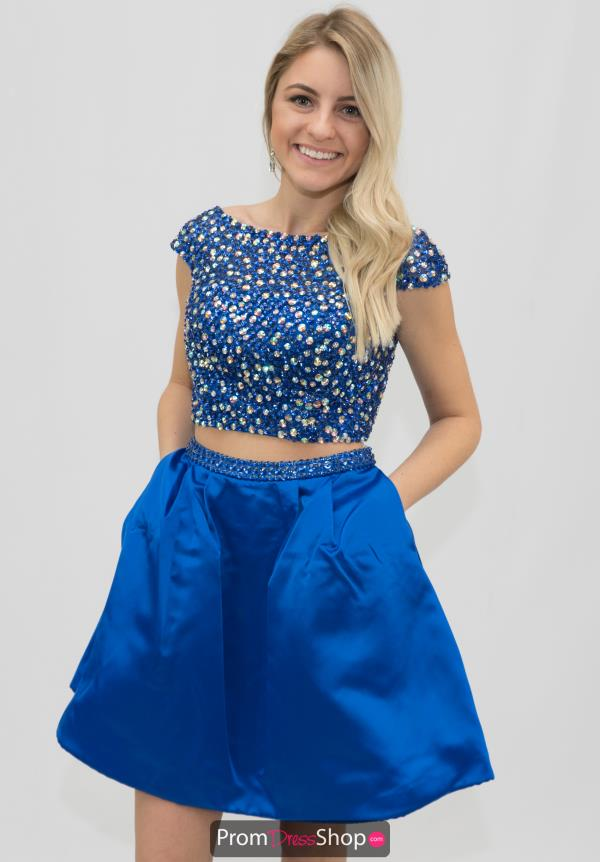 Sherri Hill Short Beaded Crop Top Dress 32270