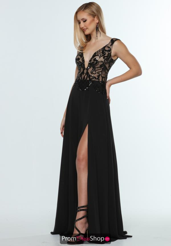 Zoey Grey Long Beaded Dress 31405