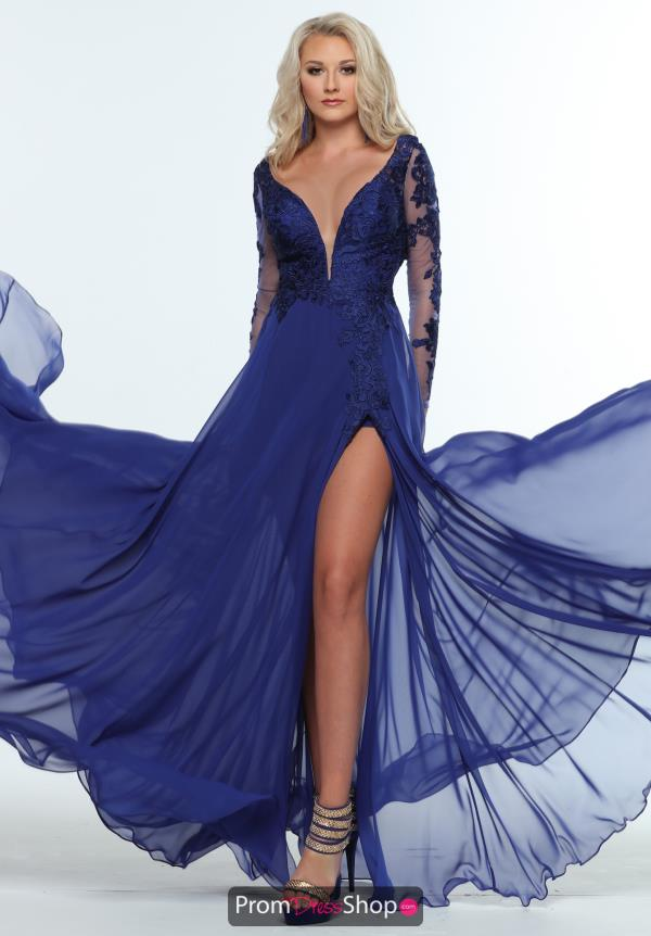 Zoey Grey V- Neckline A Line Dress 31410