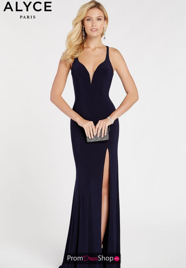 Alyce Paris Jersey Sexy Back Dress 60282