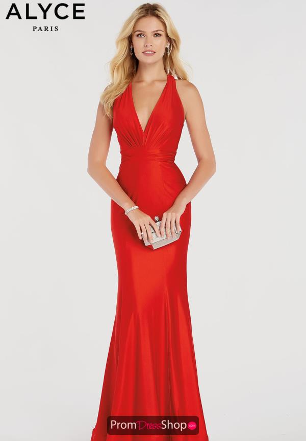Alyce Paris V-Neck Fitted Dress 60285
