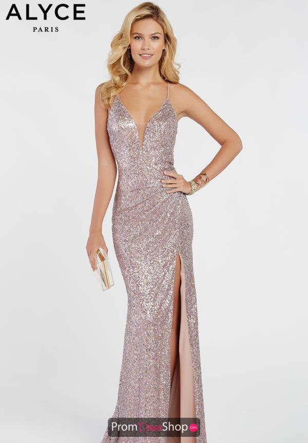 Alyce Paris Sexy Back Fitted Dress 60304