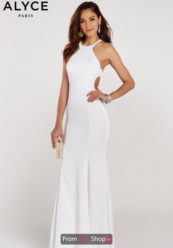 Alyce Paris Halter Fitted Dress 60312