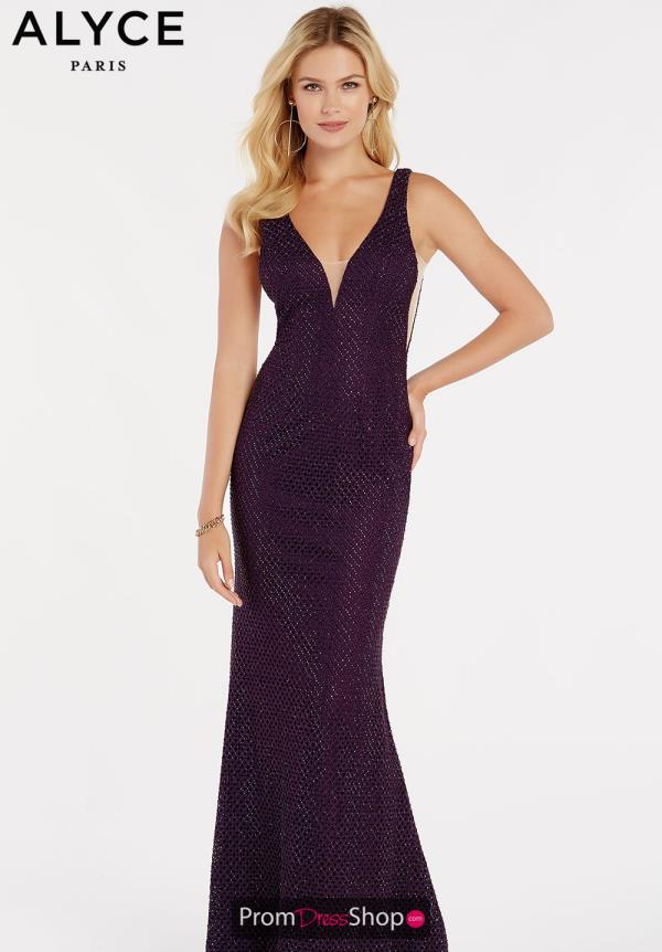 Alyce Paris Open Back Fitted Dress 60314