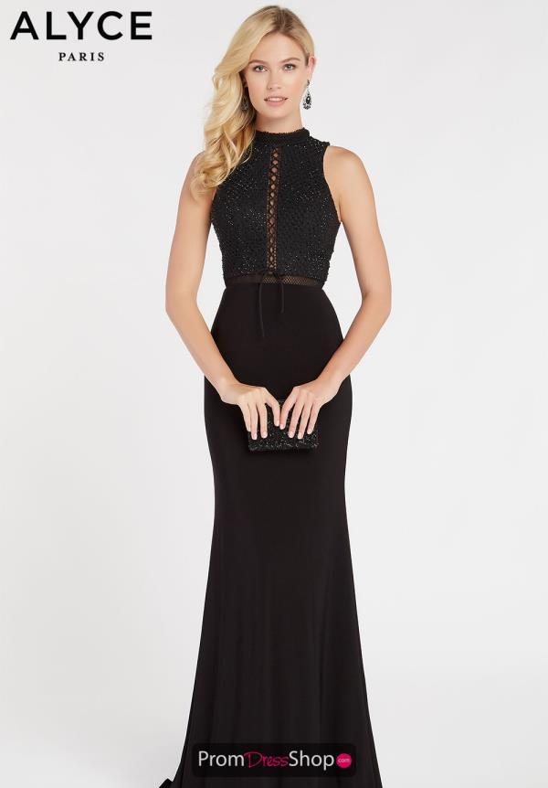 Alyce Paris Jersey Fitted Dress 60320