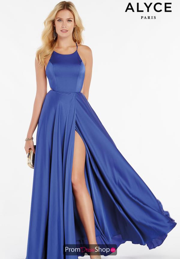 Alyce Paris Long A Line Dress 60459