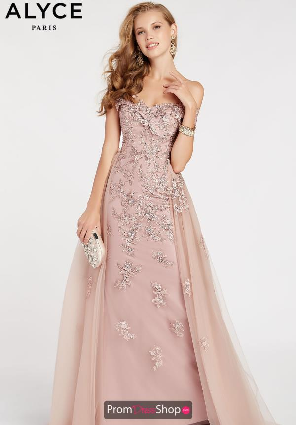 Alyce Paris Beaded Fitted Dress 60497