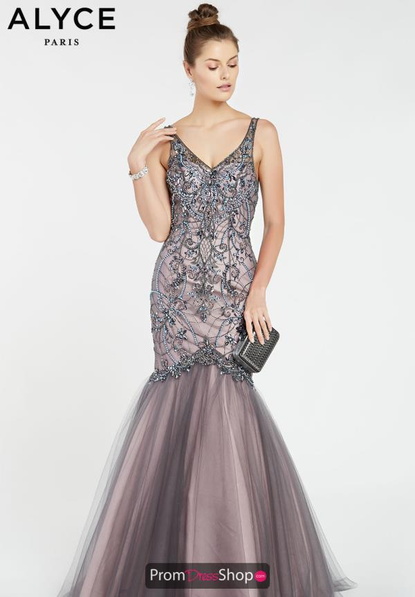 Alyce Paris Mermaid Tulle Dress 60533