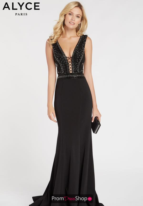 Alyce Paris Long Black Dress 60549