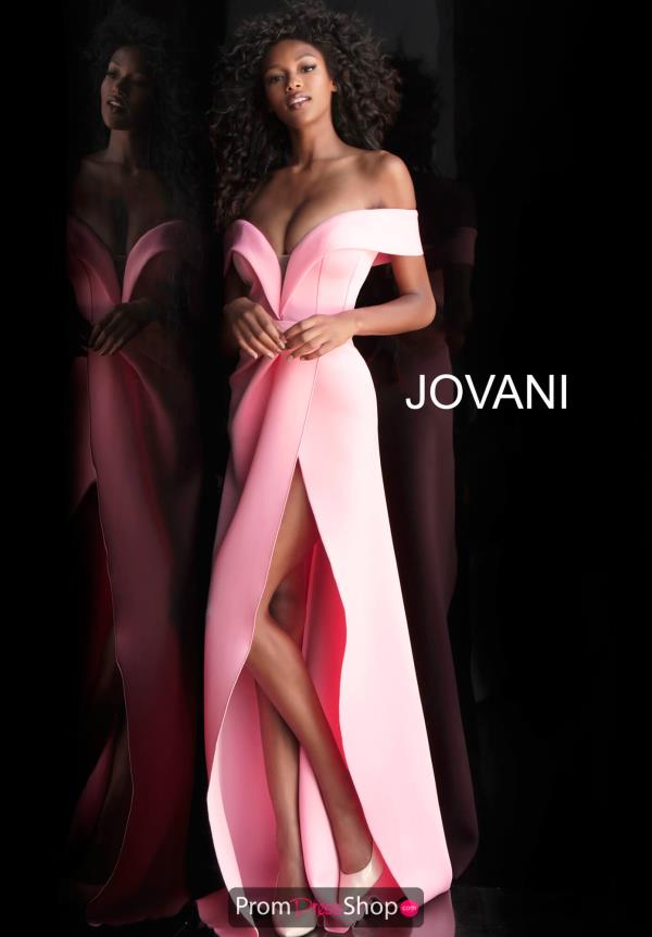 Jovani Cap Sleeve A Line Dress 66806