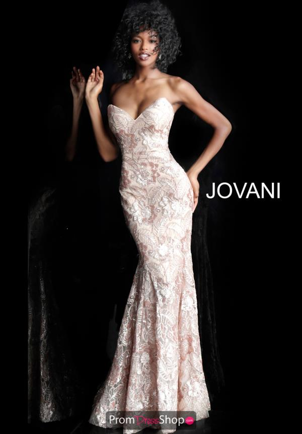 Jovani Fitted Applique Dress 67331