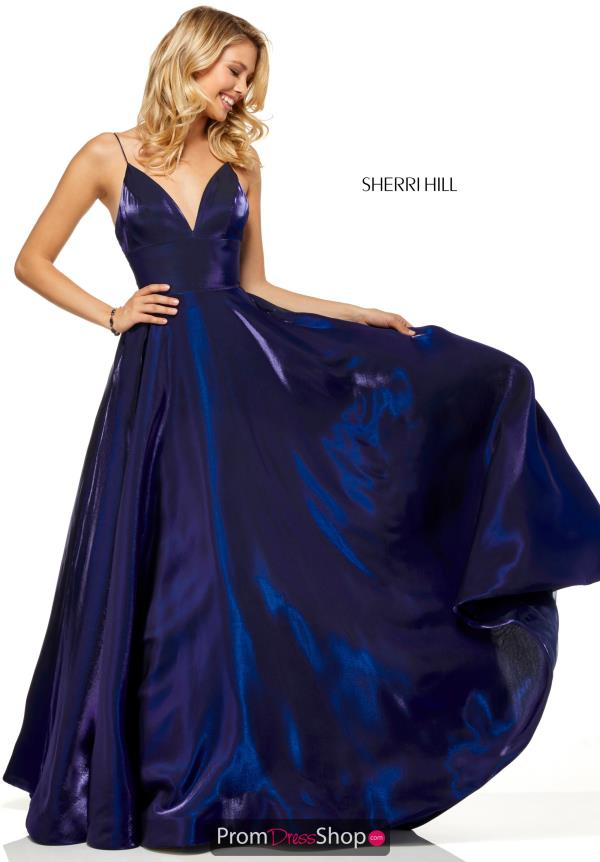 Sherri Hill V-Neck Full Figured Dress 52424