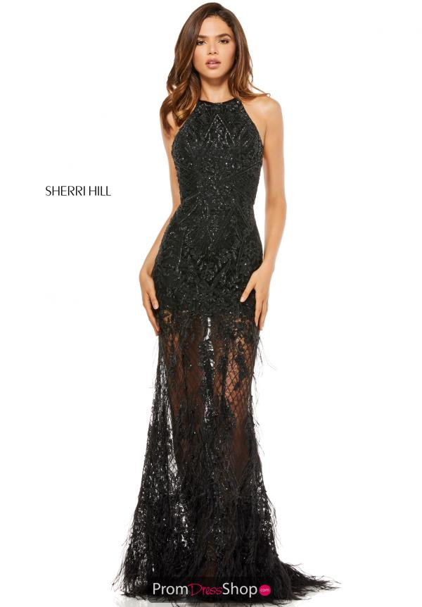 Sherri Hill Halter Fitted Dress 52561