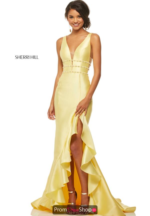 Sherri Hill High Low Fitted Dress 52576