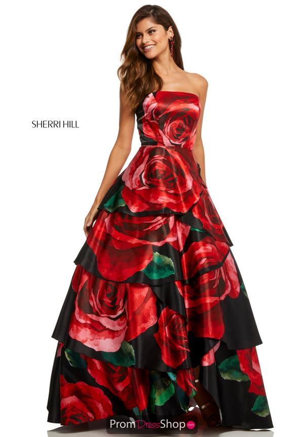 Sherri Hill A Line Long Dress 52624