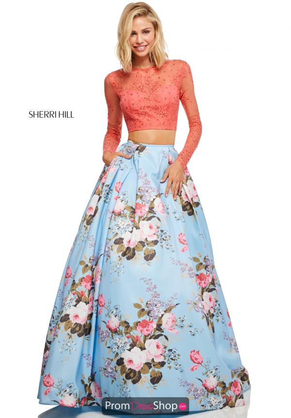 Sherri Hill Two Piece Taffeta Dress 52717