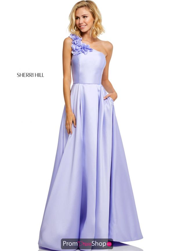 Sherri Hill One Shoulder A Line Dress 52720