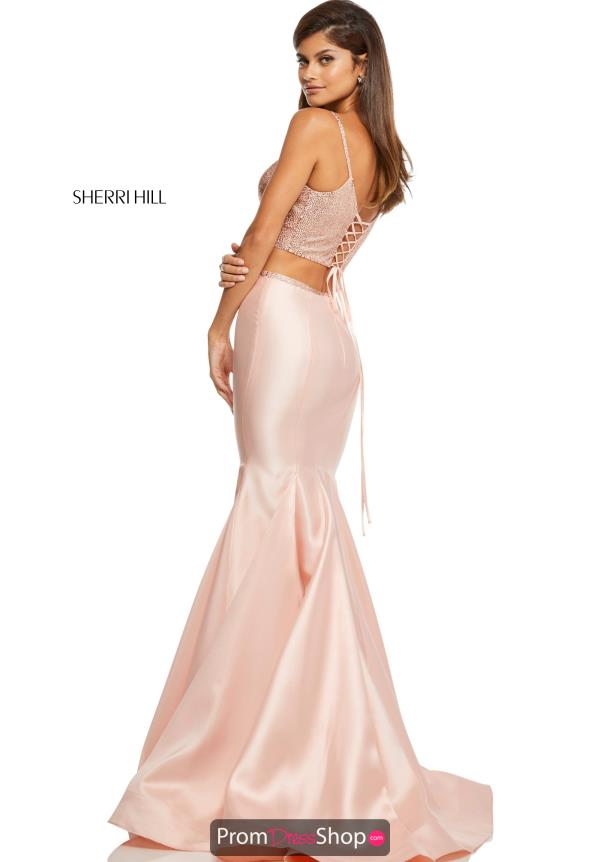 Sherri Hill V- Neckline Two Piece Dress 52734