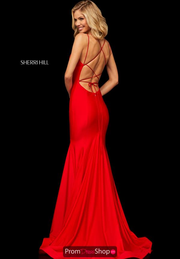Sherri Hill Sexy Open Back Dress 52779