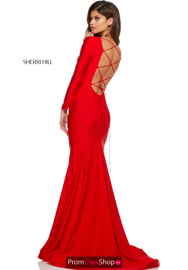 Sherri Hill Sexy Open Back Dress 52785
