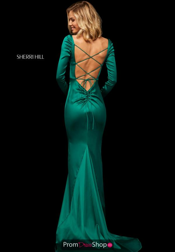 Sherri Hill Sexy Open Back Dress 52794