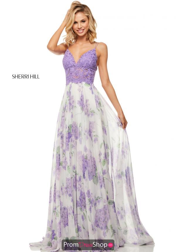 Sherri Hill Purple Prom Dress