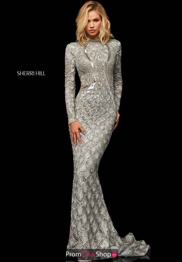 Sherri Hill Long Sleeved Fitted Dress 52916