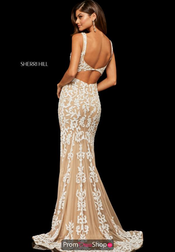 Sherri Hill Fitted Lace Dress 52925