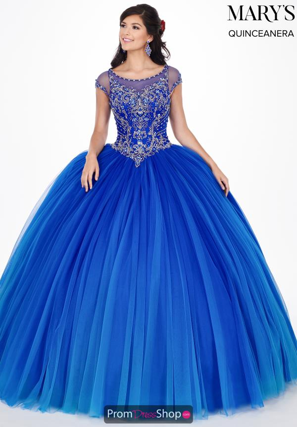 Mary's Cap Sleeved Ball Gown MQ2062