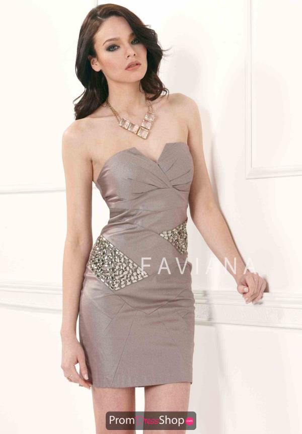 Faviana Fitted Short Dress 7069