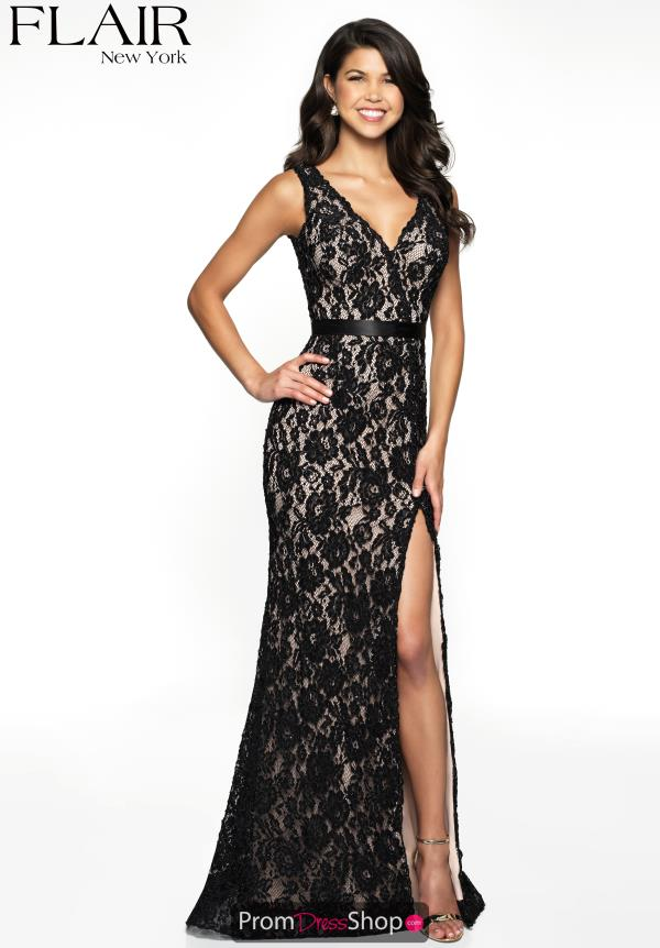 Flair Beaded Fitted Dress 19011