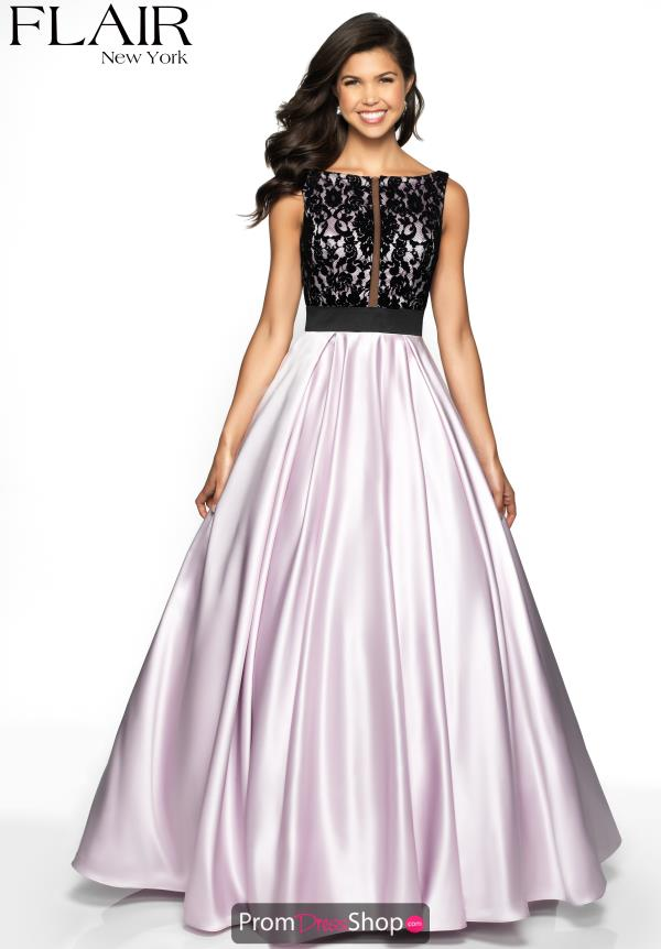 Flair Full Figured Satin Dress 19023