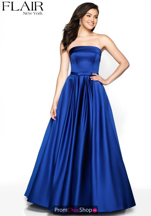 Flair Full Figured Satin Dress 19024