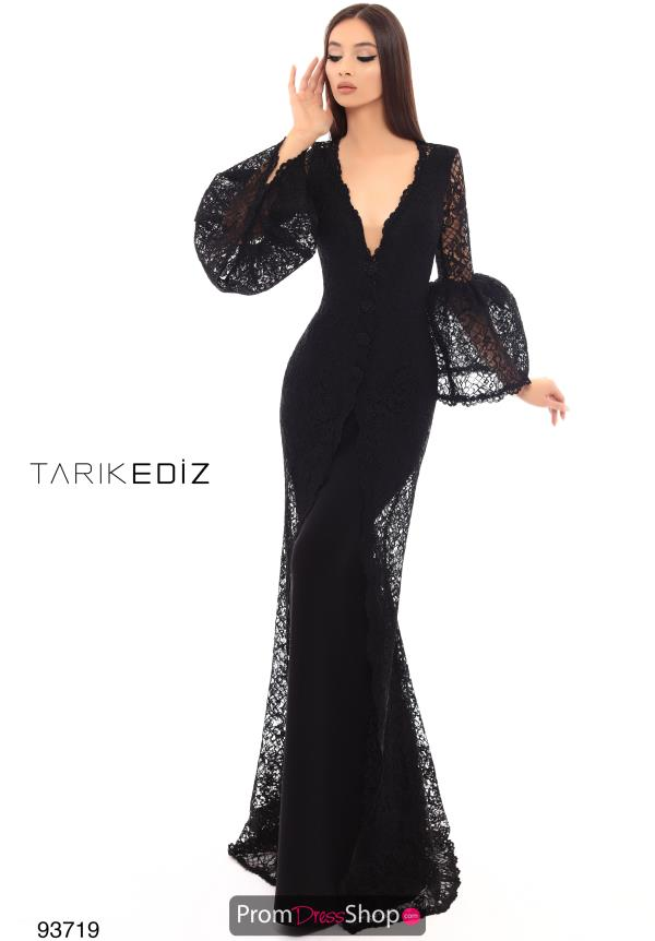 Tarik Ediz Long Lace Dress 93719