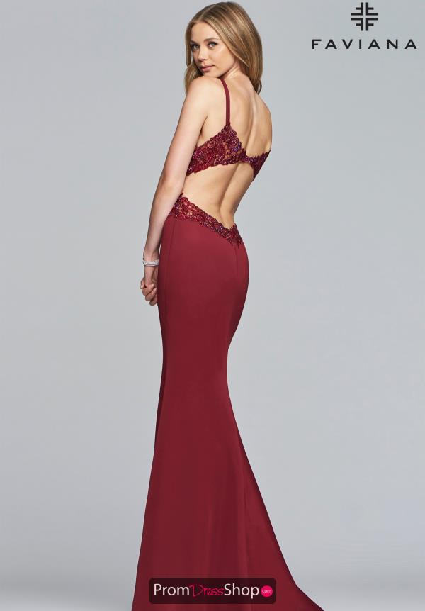 Faviana Long Fitted Dress S10226