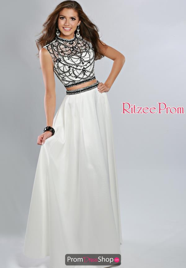 Ritzee Two Piece Cap Sleeve Prom 1926