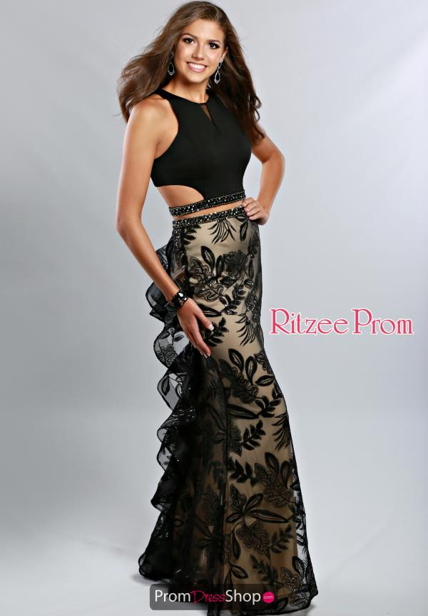 Ritzee Fitted Black Prom 1940