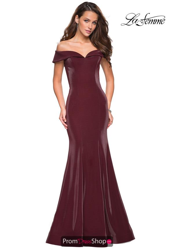 La Femme Cap Sleeve Fitted Dress 27176