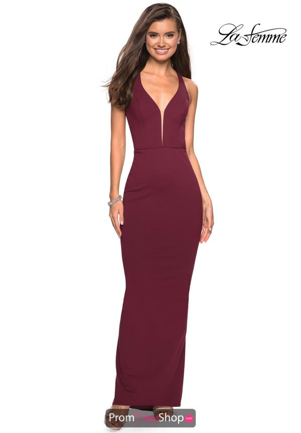 La Femme Sexy Back Fitted Dress 27637