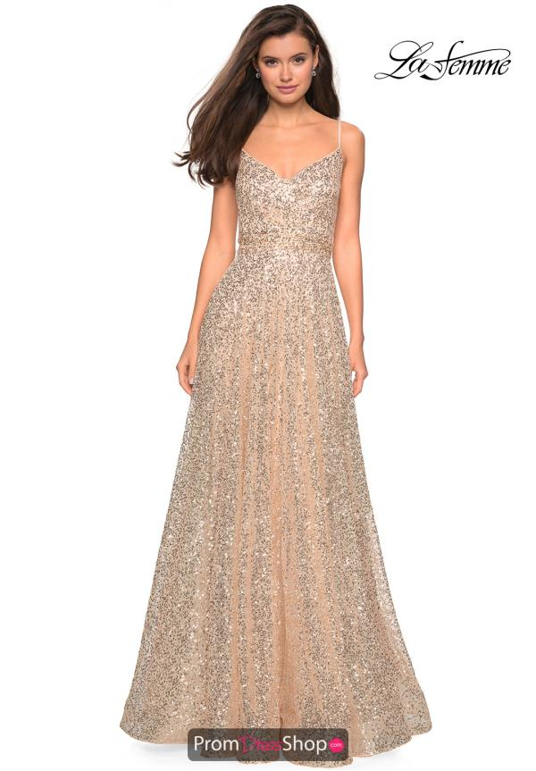 La Femme V-neck Sequins Dress 27747