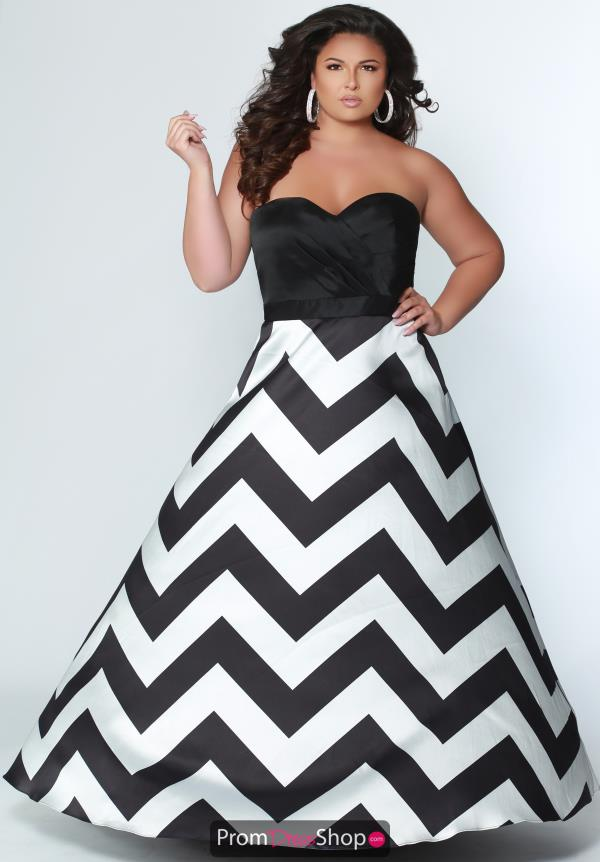 Sydneys Closet Strapless A Line Dress SC7264
