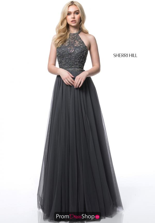 Sherri Hill Full Figured Beaded Dress 51604