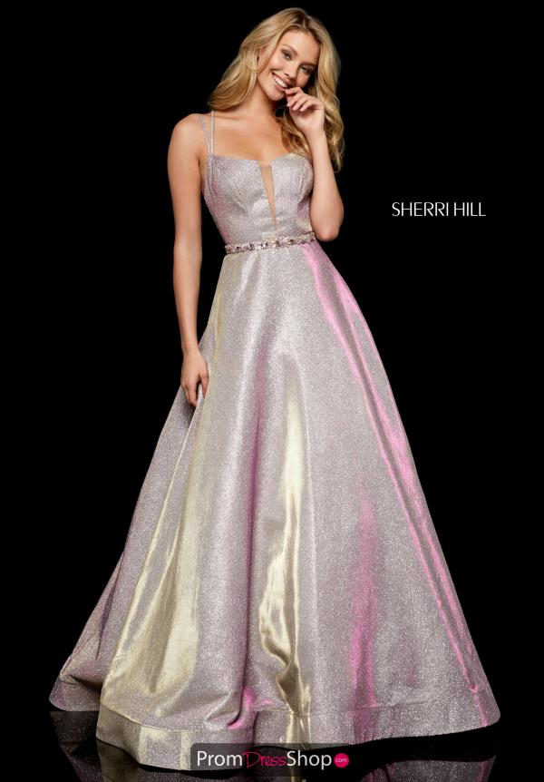 Sherri Hill Glittering A-line Dress 52124