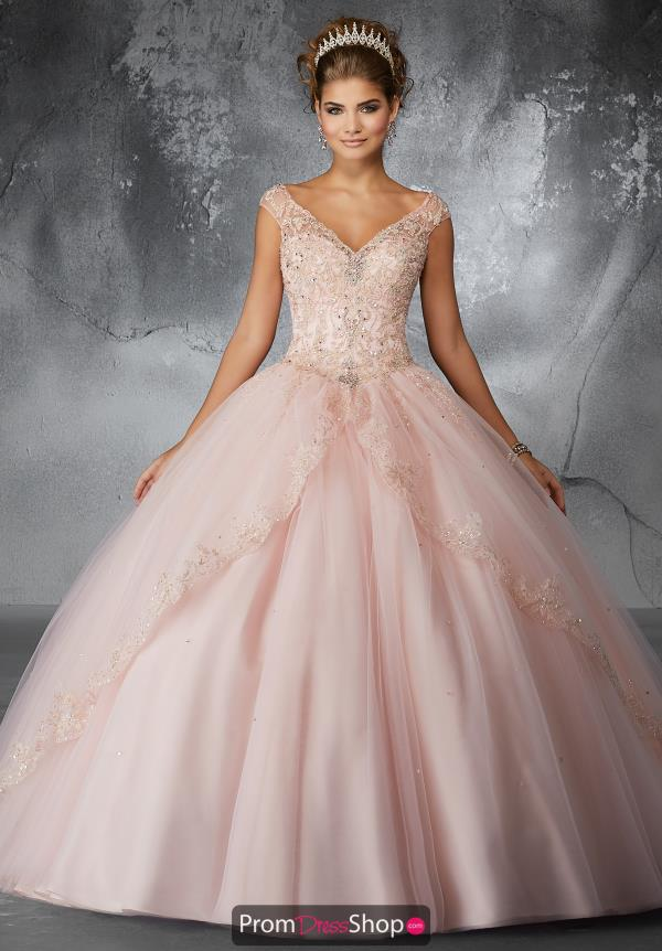Valencia Quinceanera Cap Sleeved Beaded Gown 60054