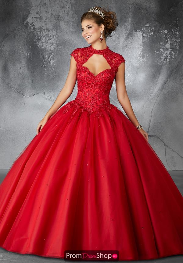 Valencia Quinceanera High Neckline Beaded Gown 60058